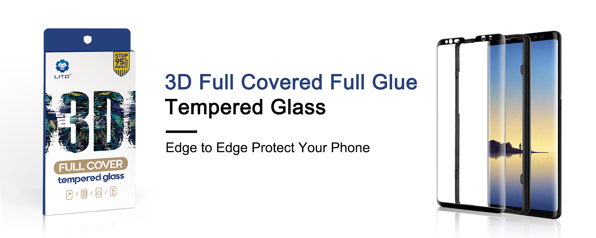 3D Curved edge full covered full glue tempered glass screen protector
