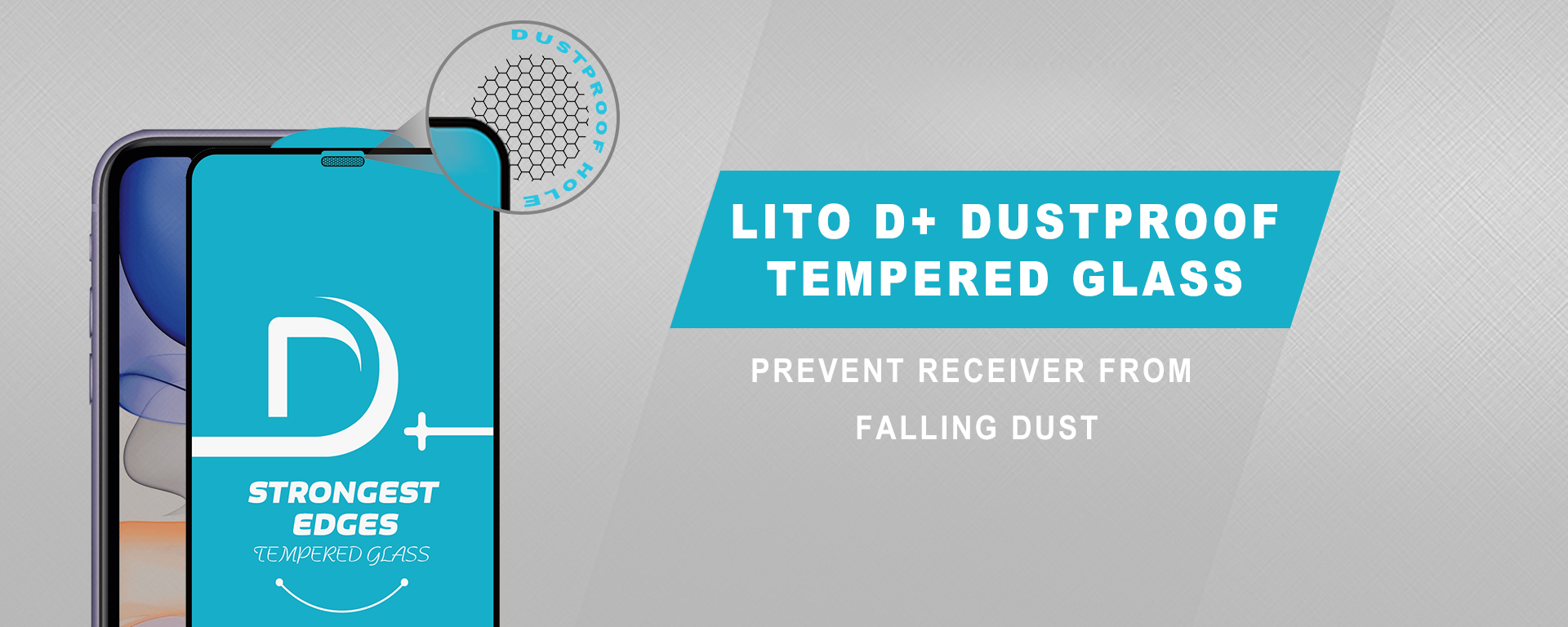 Lito D+ Dustproof Tempered Glass Screen Protector