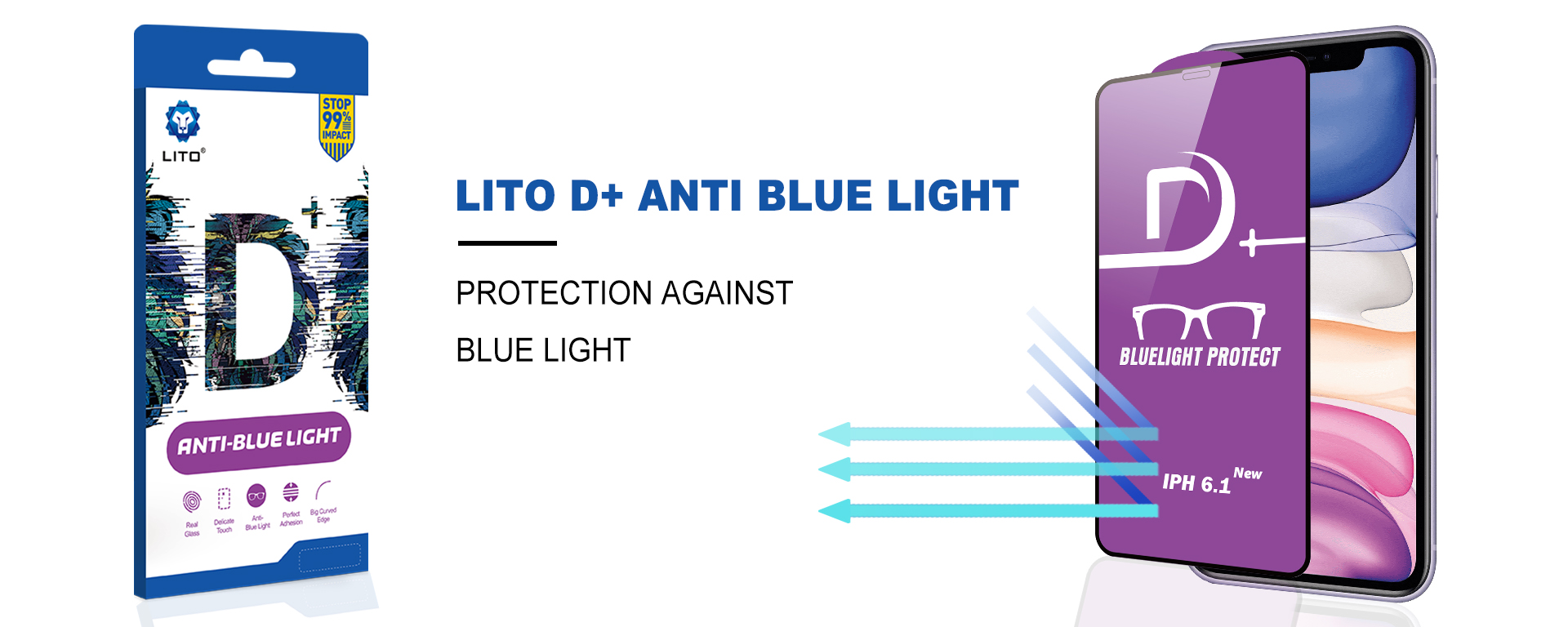 Lito D+ Anti-Blue Light Tempered Glass Screen Protector